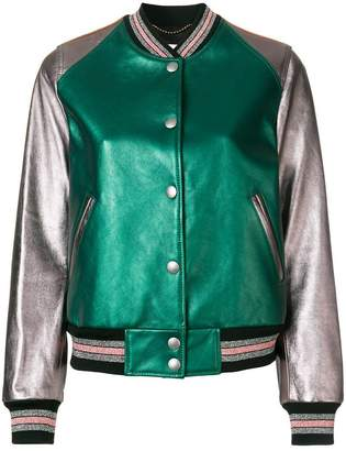 Coach leather bomber jacket