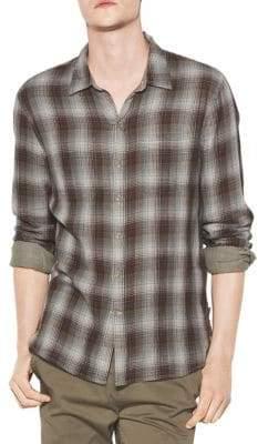 John Varvatos Plaid Reversible Button-Down Shirt