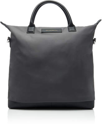 O'Hare Leather-Trimmed Shell Tote