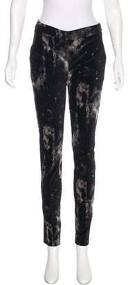 Jeremy Laing Velour Mid-Rise Pants