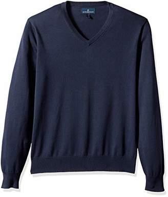Buttoned Down Men's Supima Cotton Lightweight V-Neck Sweater