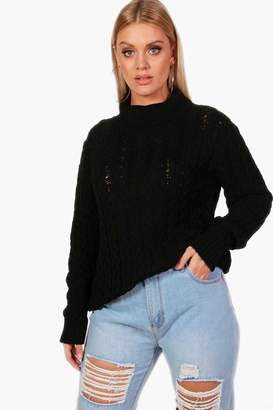 boohoo Plus Cable Knit Jumper