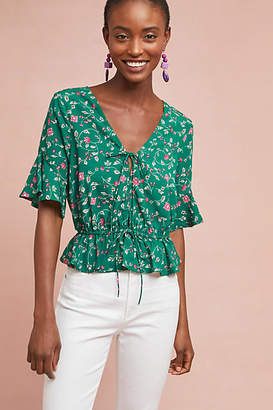 Moon River Eden Floral Blouse
