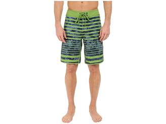 The North Face Whitecap Boardshorts (Vibrant Green Moss Stripe