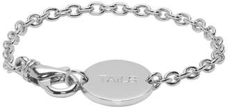 A.P.C. Silver Heads and Tails Bracelet