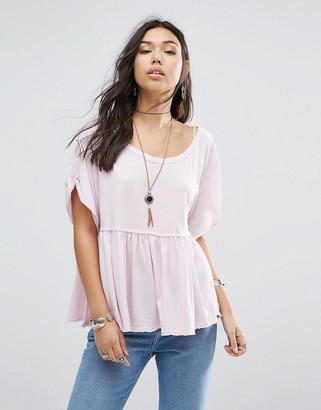 Free People Odyssey Smock Tee $46 thestylecure.com
