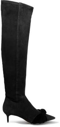 Alexandre Birman Michele Knotted Suede Over-the-knee Boots