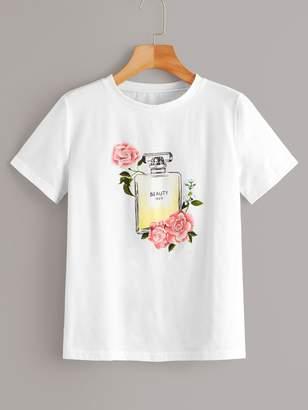 Shein Perfume Print Tee