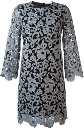Blumarine floral lace shift dress