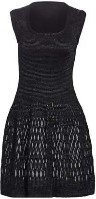 Alaia Diaphane Squareneck Dress
