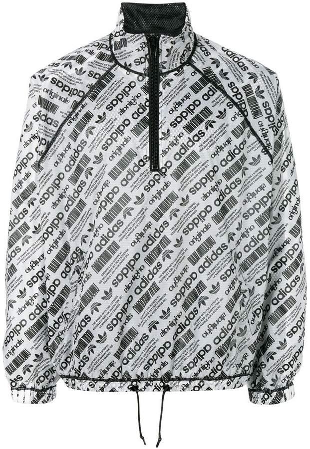 Adidas Originals By Alexander Wang Windbreaker mit Logo-Print