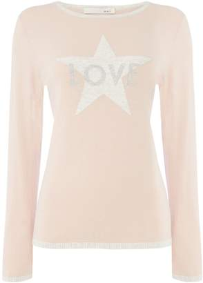 Oui Love motif jumper