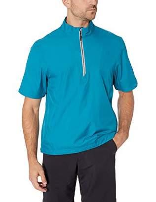 Cutter & Buck Men's Water Resistant Short Sleeve Nine Iron Half Zip Jacket