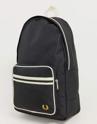 Fred Perry twin tipped backpack in black