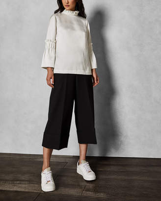 Ted Baker PPOLLYT Wide leg cuff detail culottes