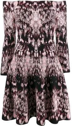 Alexander McQueen off-shoulder printed dress
