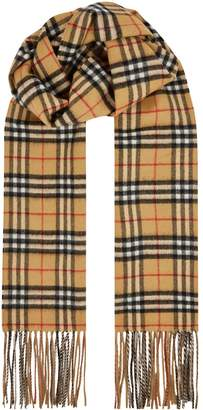 Burberry Reversible Cashmere Vintage Check Scarf