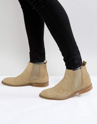 Good For Nothing Chelsea Boots In Tan Suede