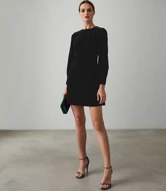Reiss BIANCA VELVET MINI DRESS Black