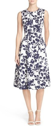 Women's Eliza J Floral Print Faille Midi Dress $178 thestylecure.com