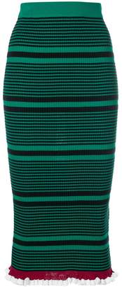 Kenzo striped knit fitted skirt