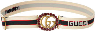 Gucci Gg Crystal Buckle Belt