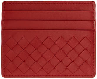Bottega Veneta Red Intrecciato Card Holder