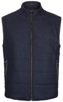 Corneliani Reversible Wool Suede Gilet
