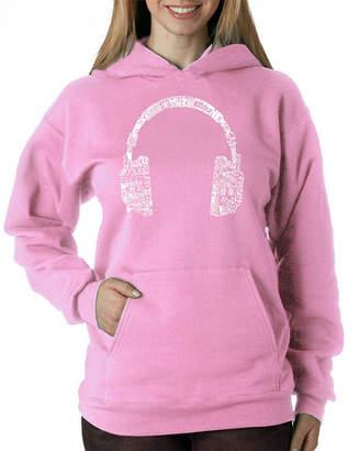 LOS ANGELES POP ART Los Angeles Pop Art Headphones - Languages Womens Sweatshirt