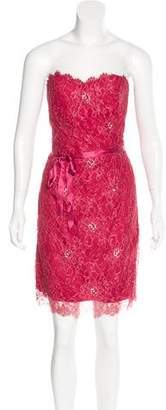Miguelina Lace Strapless Dress