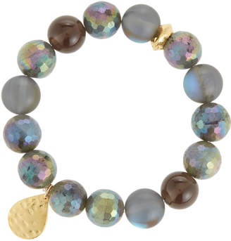 Devon Leigh Labradorite & Quartz Stretch Bracelet