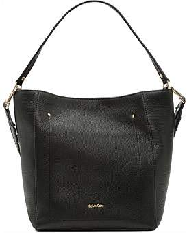 Calvin Klein Pebble Tote With Whipstitch
