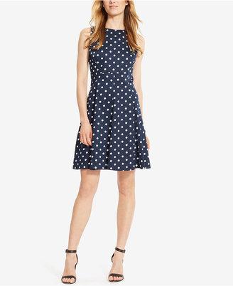 American Living Polka-Dot-Print Sateen Dress $89 thestylecure.com