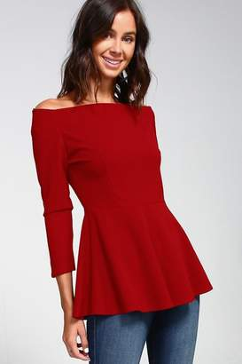 2 Hearts Love Red Blouse