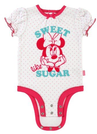 """Disney Cuddly Bodysuit with Grow an Inch Snaps, Minnie Mouse """"Sweet Like Sugar"""""""