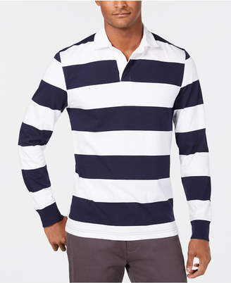 Club Room Men's Even Striped Rugby Shirt
