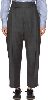 Studio Nicholson Grey Twist Pleat Trousers