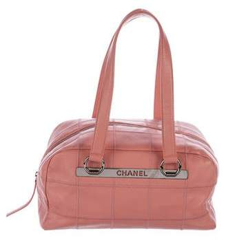 Chanel Caviar Square Quilt Bowler Bag