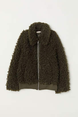 H&M Faux Fur Jacket - Green