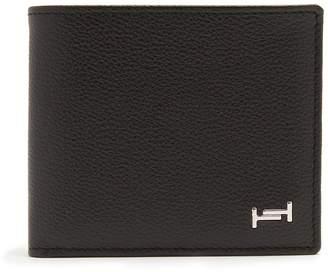 Tod's Logo-plaque leather bi-fold wallet