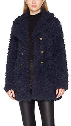 Vero Moda Women's Vmelnora Jayla Fake Fur Jacket Coat,(Manufacturer Size: Medium)