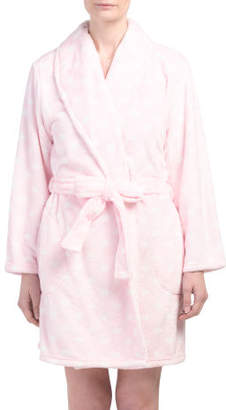 Heart Beehive Short Plush Robe