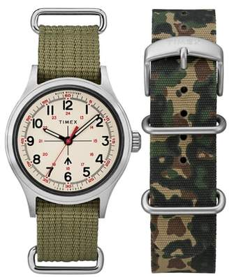Todd Snyder TIMEX X Timex(R) x The Military NATO Strap Watch Set, 40mm