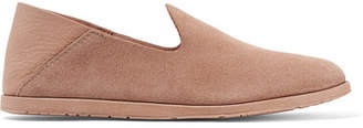 Pedro Garcia Yeira Suede And Leather Collapsible-heel Loafers - Sand