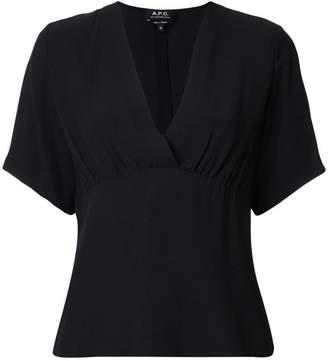 A.P.C. deep V-neck blouse