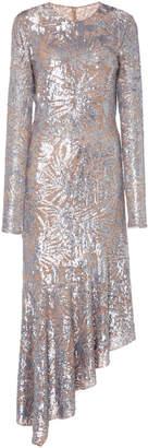 Michael Kors Asymmetric Sequined Midi Dress