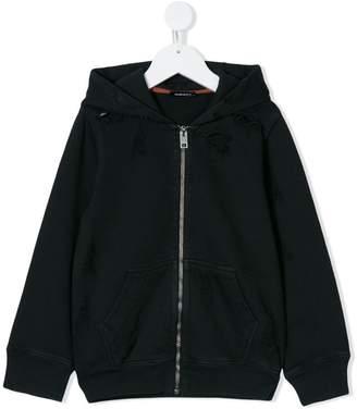 Diesel distressed longsleeved hoodie