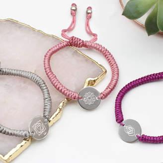 6f653466612 Hurleyburley Personalised Chakra Silver Friendship Bracelet