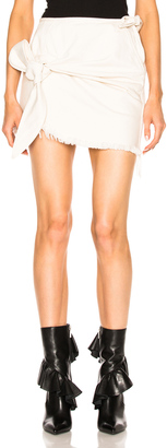 Marques ' Almeida Denim Knotted Mini Skirt $497 thestylecure.com