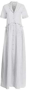 Rosie Assoulin Women's Gathered Cotton Shirtdress